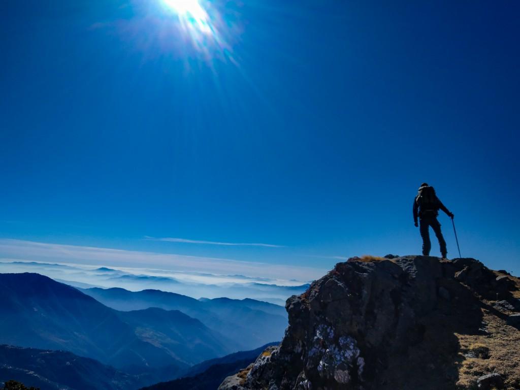a shot from Brahmatal trek - trekking benefits