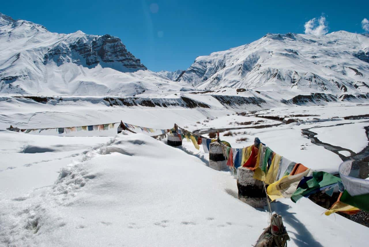 View of Spiti Valley in Winters