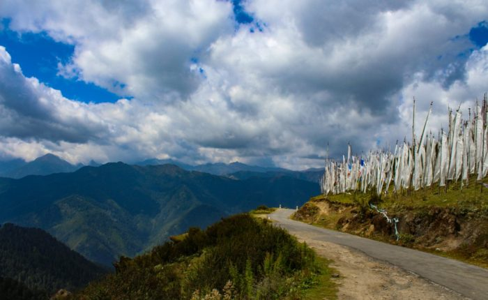 Road from Chele La Pass, Bhutan