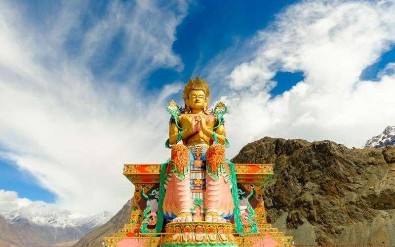 Maitreya Buddha Statue at Diskit Monastery, Nubra Valley