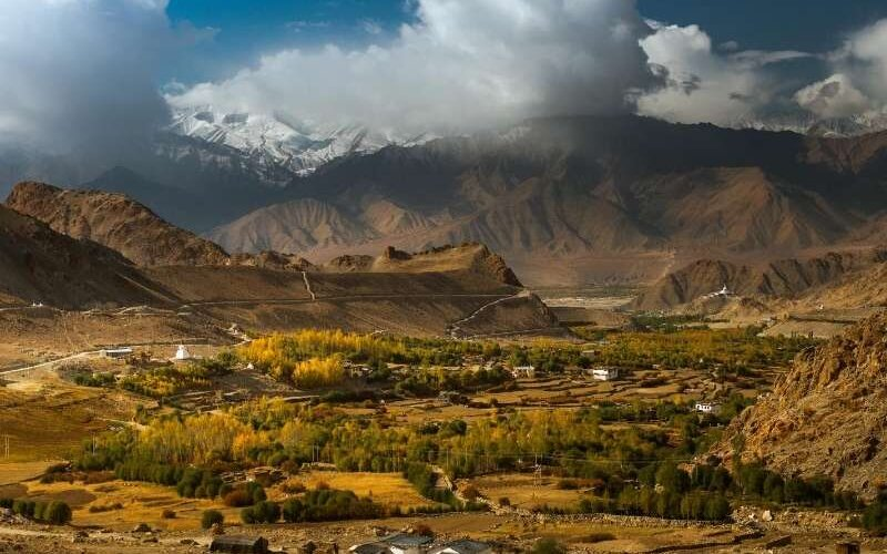 Scenic view of Leh Town - Leh Ladakh Tour