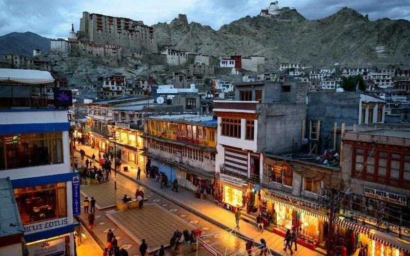Mall Road of Leh