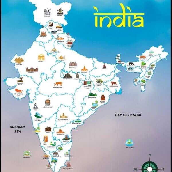 India's Bucket List Map