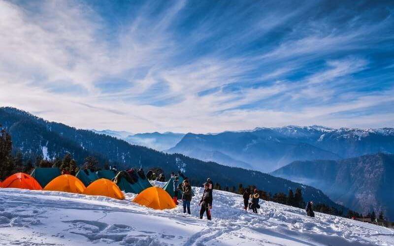 Camping at Kedarkantha Base Camp