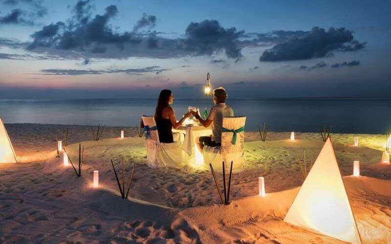 Candle Light Dinner on the Beach